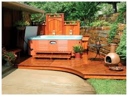 patio ideas with hot tub. Wonderful Ideas Attractive Hot Tub Patio Ideas Backyard Remodel Images  Design Garden Home On With I