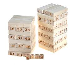 Games With Wooden Blocks Adorable Amazon JJTGS Blocks Wood Tower Stacking Game Timber Tower