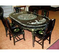 amazing decoration chinese dining table image 2 vine mother of pearl inlay chinese dining table six