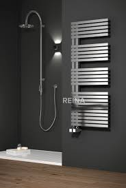 The Reina Entice stainless steel heated towel rail is available in a  brushed satin stainless steel and comes complete with a 25 year guarantee.