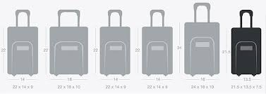 Travel Luggage Size Chart Sizing Guide Bagnbaggage Www Bagnbaggage Com