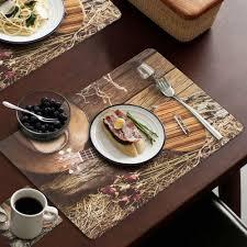 Designer Dining Table Mats Buy Manvi Pvc 6 Pc Long Lasting Designer Dining Table