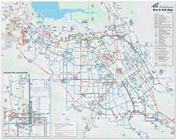 San Jose Light Rail Map San Jose Bus And Rail Map