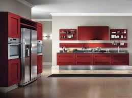 New Modern Kitchen Picture Of New Modern Kitchen Cabinets Red Design With White Wall