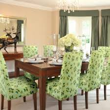 curtain design and chandelier with parsons chair slipcovers for dining set