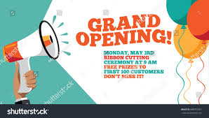 Free Grand Opening Flyer Template Grand Opening Flyer Marketing Banner Background Stock Vector