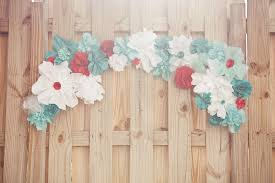 Paper Flower Wedding Decorations Red White Teal Paper Flowers For Wedding Decor