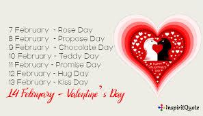 valentine week list 2021 7 feb to 21