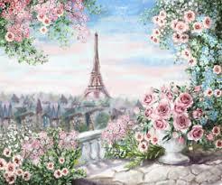 Wedding Photo Background Details About Paris Eiffel Tower Flower Oil Painting Wedding Backdrop Photo Background Props