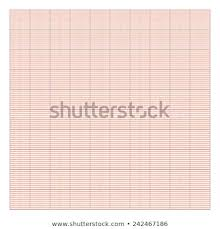 Graphpaper Template Drawing Paper 10 X 10 Orange Stock Vector