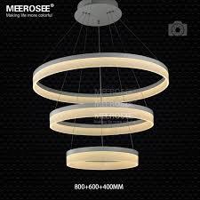 new led chandelier light fitting modern led ring suspension drop lamp white acrylic re chandelier lighting