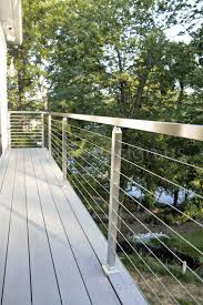 modern cable fence. Perfect Fence Greg  MD Modern Stainless Steel Cable And Glass Railing Inline Design To Fence R