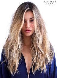 Coupe De Cheveux Long Femme Blonde Cheveux Naturels
