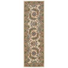 nourison india house ivory gold 2 ft x 8 ft runner rug
