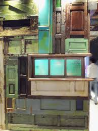 recycled doors wall