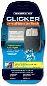 universal garage door openersClicker KLIK1U Universal 2Button Garage Door Opener Remote