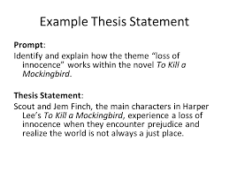 thesis statements a thesis is a statement that tells the reader  example thesis statement