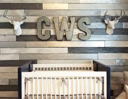 metallic wood wall nursery project nursery