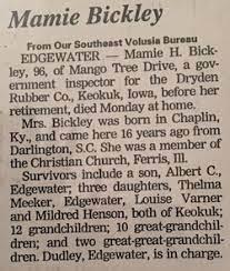 Mamie Hickman Bickley (1898-1995) - Find A Grave Memorial