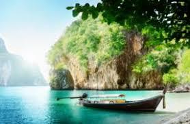 boats thailand sea crag nature wallpaper