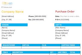 Purchase Order Format 1 0 Dotxes
