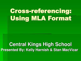ppt cross referencing using mla