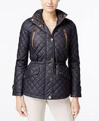 MICHAEL Michael Kors Hooded Faux-Leather-Trim Quilted Anorak ... & MICHAEL Michael Kors Hooded Faux-Leather-Trim Quilted Anorak Jacket Adamdwight.com
