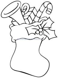 Small Picture Christmas Stocking Coloring Pages For Kids Part 5
