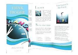 Word Pamphlet Template Kindergarten Fold Sales Brochure Blank ...