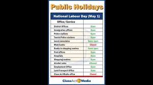 national labour day to be celebrated in