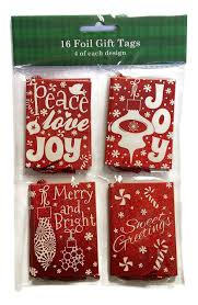 Design Pack Gifts Foil Gift Tags 1 Pack Of 16 Tags With 4 Of Each Design