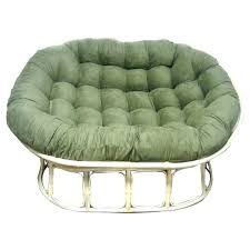 pier one round chair cushion wicker chair stock photo