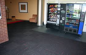 vct flooring and carpet tile installation at university student lounge