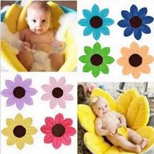 newborn baby girls boys bathtub foldable flower shape mat soft seat infant baby flower bath play mats sunflower cushion 80cm