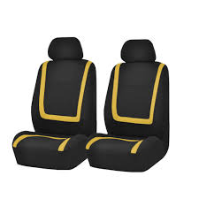 car seat covers yellow black full set for auto truck suv with headrests 1