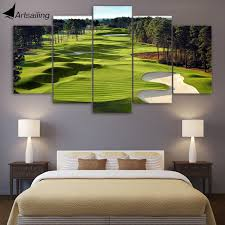 canvas print 5 pieces paintings golf course wall art canvas pictures for living room 5 pcs on golf wall art near me with canvas print 5 pieces paintings golf course wall art canvas pictures