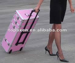 new mac makeup cosmetic train case double zipper partment storage bag