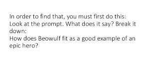 writing lesson beowulf essay 5