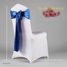 free shpping 100 wedding satin sash chair sash in navy blue color