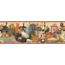 imperial 9 1 4 kitchen shelf prepasted wallpaper border