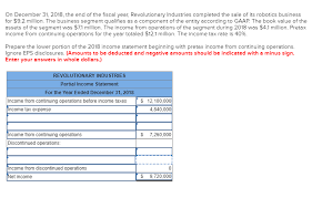 Components Of Income Statement Cool Solved On December 48 48 The End Of The Fiscal Year