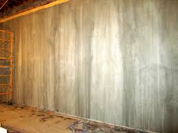 2 faux finish painted cement mural wall