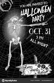 Halloween Dance Flyer Templates Halloween Vertical Background Skeletons Dancing Dab Flyer
