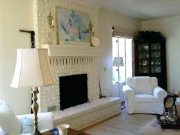 Should I Paint My Brick Fireplace What Color Eclectic Living