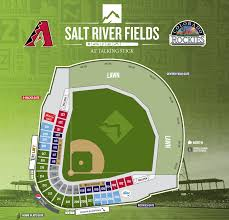 Chase Field Az Seating Chart 2019 Seating Map Salt River Fields