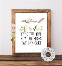 Life Is Short Take The Trip Buy The Shoes Eat The Cake Life Etsy