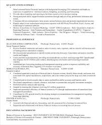 Financial Operations Analyst Resume