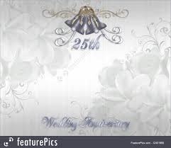 25th wedding anniversary invitation silver bells royalty free stock ilration