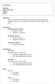 College Grad Resume Templates Resume And Cover Letter Resume And