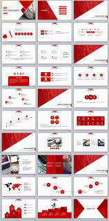 Red Ppt 30 Red Business Report Powerpoint Templates Pinterest